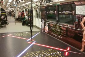 SMRT unveiled Singapore's Intergalatic Star Wars Concept trains and buses on Dec 15.