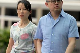 ON TRIAL: (Above) Not only did Lim Choon Hong and his wife Chong Sui Foon keep their former maid Thelma Oyasan Gawidan hungry, but they also forbade her from bathing in their home.