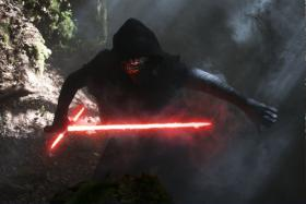 Kylo Ren (played by Adam Driver) from Star Wars: The Force Awakens.