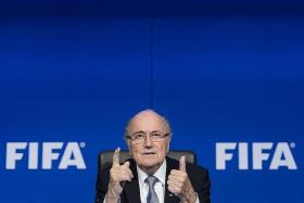 """""""He has worked very hard on this letter, he is looking at this week feeling very strong in spirit."""" - Klaus Stoehlker, personal adviser to outgoing Fifa head Sepp Blatter (above)"""