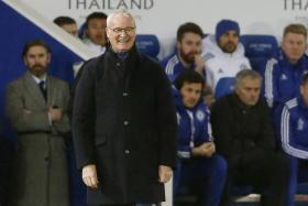 Claudio Ranieiri smiles during Leicester City's 2-1 victory over Chelsea.