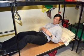 DORMITORY VISIT: The picture of Mr Teo Ser Luck which was uploaded on MOM's Facebook page on Dec 11.