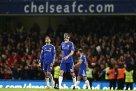 MIDFIELD MUDDLE: Cesc Fabregas (left) and Nemanja Matic (right) are the underperforming culprits in the Blues' engine room.