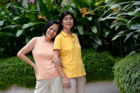 Ms Marny Coronado Pera and Madam Yap Sock Hoe.