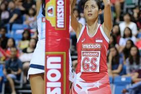NETTING THE ACCOLADES: Yasmin Ho (above) was Singapore's most proficient shooter for the fourth match in a row, scoring 87 per cent of her attempts.