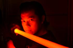 Mr Kit Woo, proprietor of Kit Sabers, churns out hundreds of replica Star Wars lightsabers for wannabe Jedi Knights or Sith Lords.