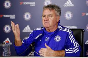"""""""They have to look forward. There must be a great desire to play, yes? If you don't have that desire, please knock on my door and we'll talk."""" — Chelsea's interim manager Guus Hiddink (above)"""