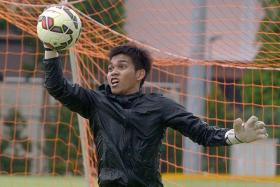 NEXT MOVE: National goalkeeper Izwan Mahbud's next destination could be Tampines Rovers or Courts Young Lions.