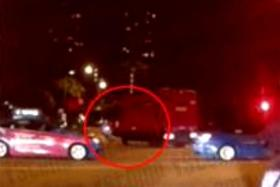 CHRISTMAS EVE: A screen grab of a video capturing the accident.