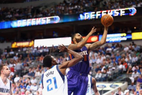 Phoenix Suns forward Markieff Morris (right) is suspended after flinging a towel at his coach.