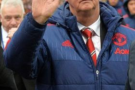 GOODBYE? Louis van Gaal (above) is tipped to leave Manchester United after suffering a fourth straight loss at Stoke on Saturday, despite playing better with captain Wayne Rooney's introduction after half-time.