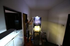 PROJECT: Mr Ng Sze Kiat grows lingzhi mushrooms in a fruiting chamber right outside his bedroom.