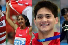 (From left to right) Japan's incredible underdog victory over South Africa at the Rugby World Cup, the SEA Games, swim star Joseph Schooling and Singapore goalkeeper Izwan Mahbud gave us reasons to cheer in 2015.