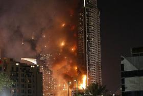CASUALTIES: The fire at The Address Downtown hotel in Dubai left 16 people injured.