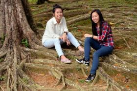 SUCCESS STORIES: Ms Sharron Chan (left) and Ms Woon Siew Hua are two of the 42 beneficiaries of the Hotel 81-Choo Chong Ngen Bursary.