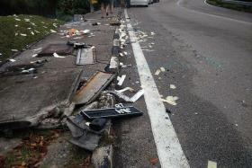 DRIVING FOR SUPPER: Mr Lim Yew Beng was killed when his car collided head-on with another vehicle in Johor Baru.