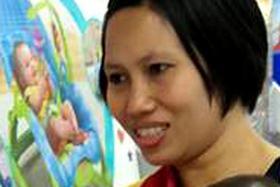 VIOLENT: Indonesian maid Khaerun Nisa Selfitriya was caught on camera ill-treating her employer's children.