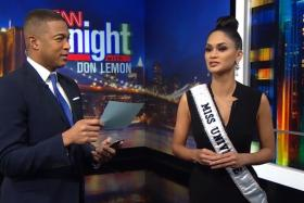 Miss Universe Pia Wurtzbach answers typical Miss Universe questions posed by CNN news anchor Don Lemon.
