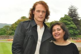 UP CLOSE: Writer Meher Tatna often gets to rub shoulders with Hollywood's big names such as Sam Heughan, star of Outlander.