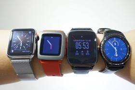(From left to right) The Apple Watch, Pebble Time, Asus ZenWatch 2 and Samsung Gear S2 are some of the best wearable devices out on the market today.