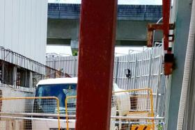 WORK SITE: The accident happened at a construction site in Sengkang and the victim died on the spot.