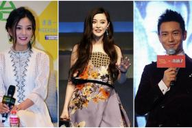 Zhao Wei (left) lost $34 million while Huang Xiaoming (right) lost $5 million. Meanwhile Fan Bingbing gained $656,000.
