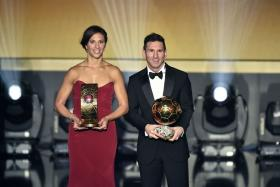 Carli Lloyd and Lionel Messi were crowned the World Player of the Year during the 2015 Ballon d'Or ceremony in Zurich.