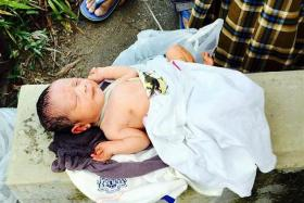 FIND: A man returning from evening prayers found an abandoned baby beside a drain.