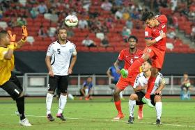 MORE OF THE SAME: On March 29, Singapore will be hoping to repeat their 1-0 win over Afghanistan, courtesy of Khairul Amri's goal (above, No. 19), when the two teams meet in Teheran.