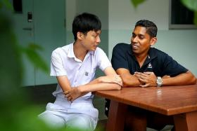 INSPIRATION: Mr Michael Rajanayagam made sure Ryan Wu was protected from the notorious students and he devised simple ways to help the teenager study better.