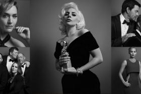Instagram teamed up with Dutch photographers Inez and Vinoodh to photograph winners and presenters of the 73rd Golden Globes in glamorous, dramatic, monochrome portraits.