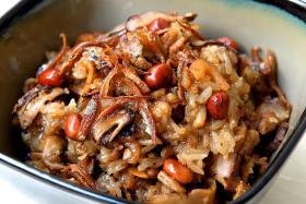 Glutinous rice.