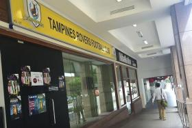 EMPTY: Tampines Rovers' former clubhouse at Burlington Square is the subject of a dispute concerning the rental arrears.