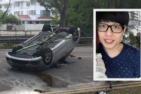 Mr Fabian Ong (right) was killed in the accident that occurred along Bukit Timah Road.