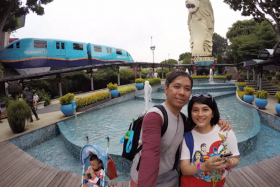 Madam Yuri Nursarasywati and her family were on a five-day holiday in Singapore when they left their camera at a beach in Sentosa.