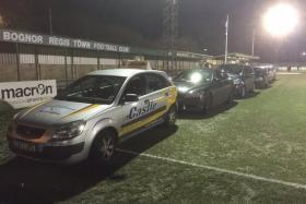 Bognor Regis Town came up with a unique solution to thaw out their frozen pitch for an FA Trophy second round match against Altrincham.