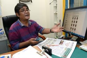 UPSET: Mr A.K.M. Mohsin, editor of Banglar Kantha.