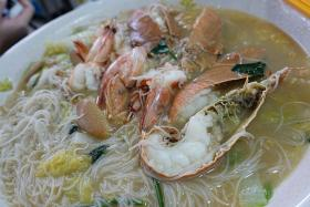 RENDITIONS: East Seafood White Beehoon's rich seafood version