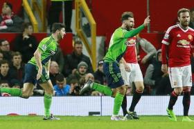 AUSTIN POWER: Charlie Austin announcing his arrival at Southampton with the winning goal against Manchester United after coming on as a substitute.