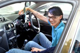 SAFETY: Mr Andrew Yong sends intoxicated drivers home safely in their cars.