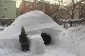 Mr Patrick Horton built an igloo in New York during the blizzard and listed it on Airbnb for $200 a night.
