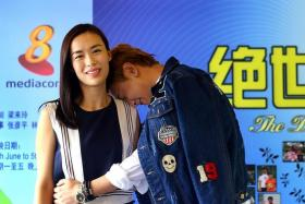 JUST FRIENDS: Good friends Rebecca Lim and Ian Fang call each other pet names on the set of their new drama, The Dream Job.
