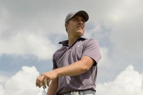 TOP PLAYER, TOP COURSE: World No. 1 Jordan Spieth getting a feel of Sentosa's Serapong Course during yesterday's pro-am event.