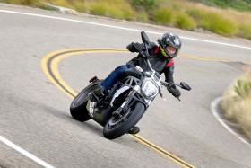 Biker Boy Zaihan Mohamed Yusof rides the Ducati XDiavel in San Diego, California.