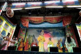 VIBRANT: The Lau San Chia Soon troupe in a Nakhon Pathom village west of Bangkok.