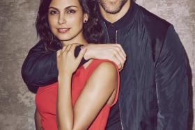 Actress Morena Baccarin and her Deadpool leading man Ryan Reynolds