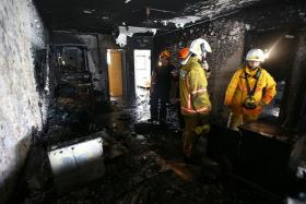 BURNT FLAT: The family was not home when the fire broke out.