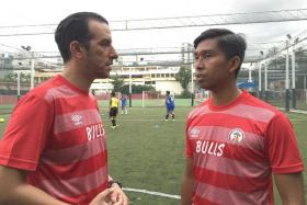 GOMBAK GANG: Former Bulls players Walid Lounis (left) and Hamqaamal Shah (right) will be coaching the youth teams.