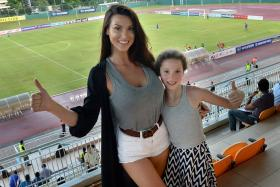 Jermaine Pennant's wife Alice Goodwin (left, with daughter Esme).