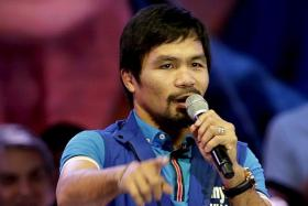 CONTROVERSY: Filipino boxer Manny Pacquiao is running for the senate in the country's May elections.